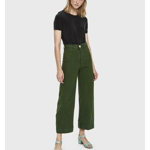 Jesse kamm forest green sailor pants 0 new!